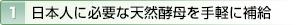 1.日本人に必要な天然酵母を手軽に補給